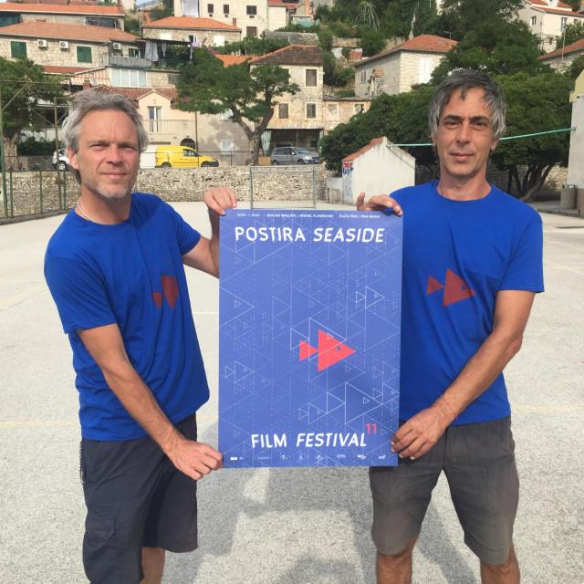 Marko Valić i Daniel Šantić, direktori Postira Seaside Film Festivala