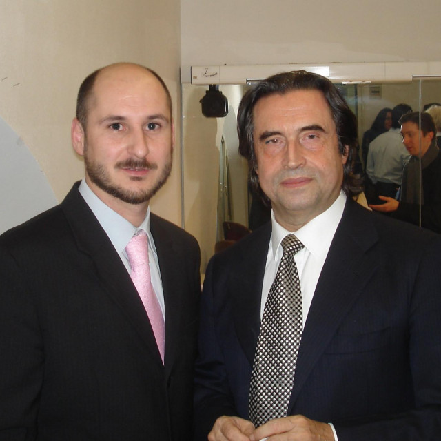 Siniša Vuković i Riccardo Muti, Teatro Alighieri, Ravenna, 2006. godine