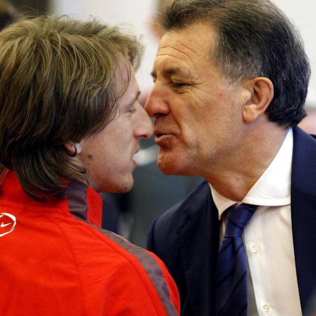 Luka Modrić i Zdravko Mamić u danima zajedništva