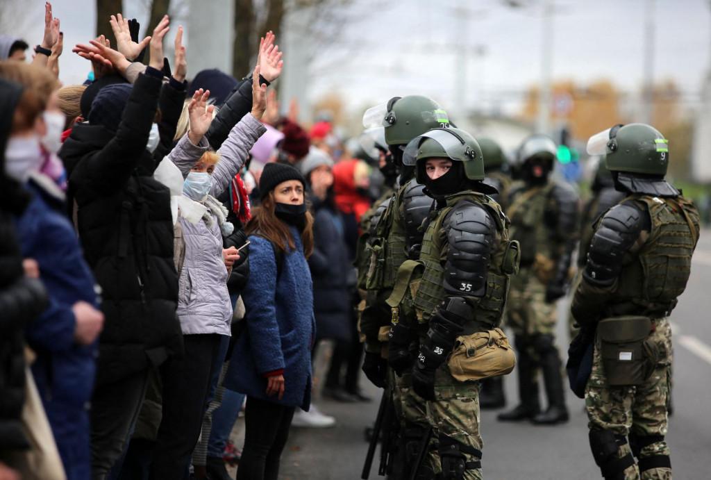 S jednog od prosvjeda u Minsku
