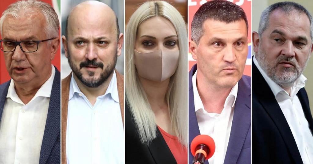 Petorka koja je dobila crveni karton Peđe Grbina: Rajko Ostojić, Gordan Maras, Marina Opačak Bilić, Nikša Vukas i Zvane Brubnić