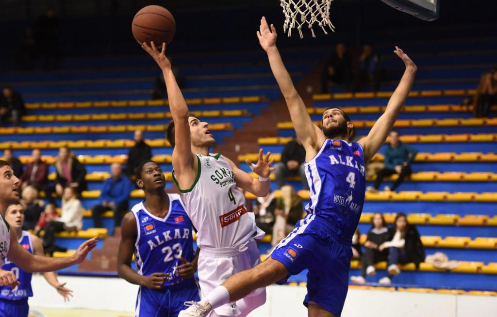 Zadar, 141219.<br /> Dvorana Jazine. HT Premijer liga - 12. kolo. Kosarkaska utakmica KK Sonik Puntamika - KK Alkar.<br /> Na fotografiji: Filip Josic.<br />