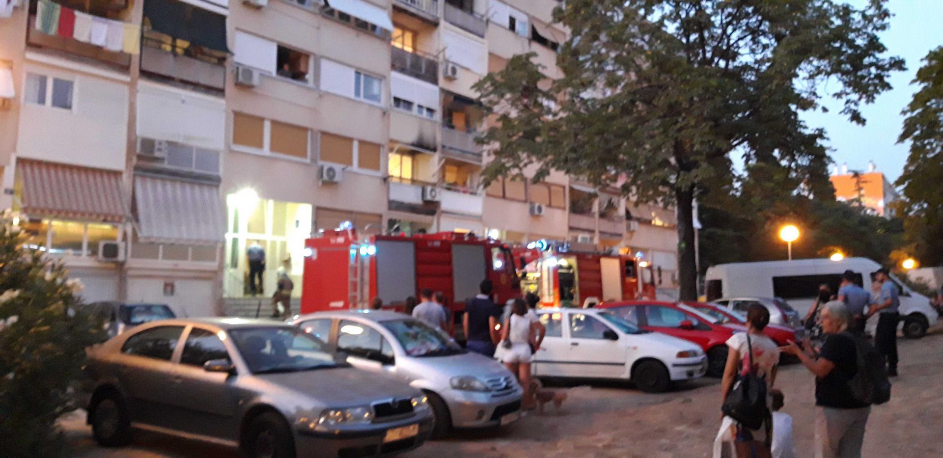 Zbog požara na Mažuranićevom šetalištu na terenu četiri vatrogasna vozila: 'Gore balkoni, ali nema ozlijeđenih'