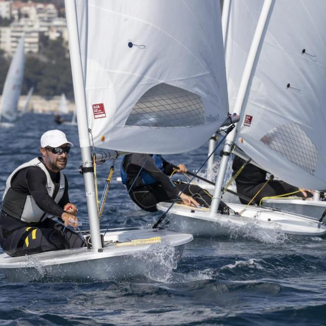 Split,28032021<br /> Posljednji dan natjecanja Otvorenog prvenstva Hrvatske u klasi Laser standard i laser 4.7 u organizaciji JK Mornar.<br /> Na fotografiji:Tonci Stipanovic.<br />