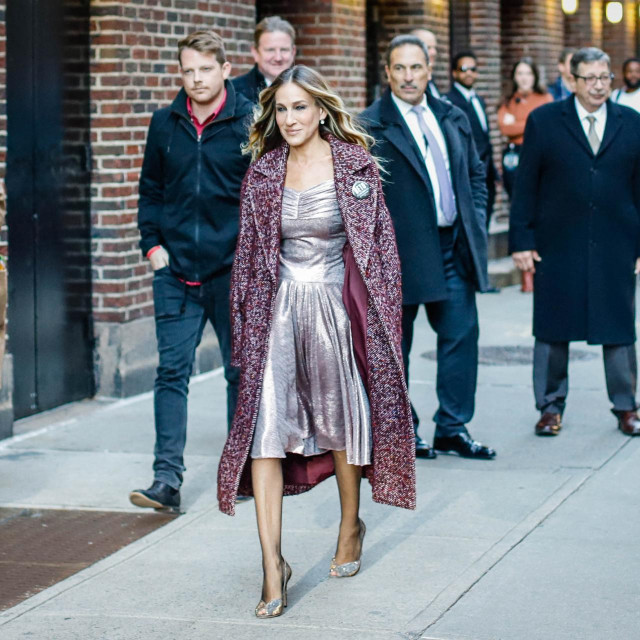The North American actress, Sarah Jessica Parker is seen on Manhattan Island in New York on Tuesday, 30. (Photo: Vanessa Carvalho/Brazil Photo Press) (Photo by VANESSA CARVALHO/BRAZIL PHOTO PRESS/Brazil Photo Press via AFP)