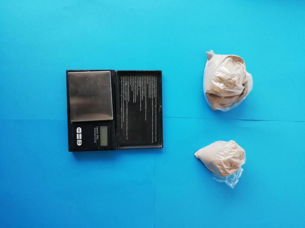 Heroin raspoređen u PVC vrećice