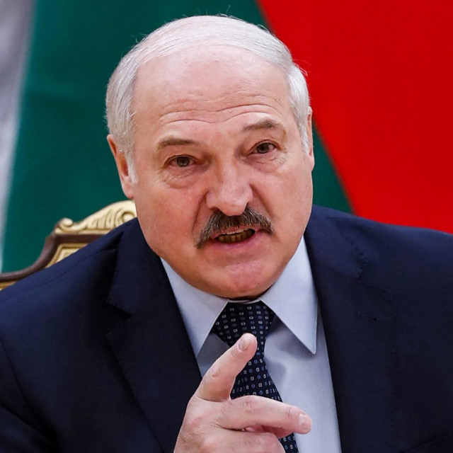 """(FILES) In this file photo Belarusian President Alexander Lukashenko speaks during a meeting with Commonwealth of Independent States officials in Minsk on May 28, 2021. - The United States on June 21, 2021 imposed sanctions on dozens of Belarusian officials in a coordinated move with Western allies to hit strongman Alexander Lukashenko after the forced landing of a commercial plane. """"These coordinated designations demonstrate the steadfast transatlantic commitment to supporting the Belarusian people's democratic aspirations,"""" Secretary of State Antony Blinken said in a statement. (Photo by Dmitry Astakhov/POOL/AFP)"""