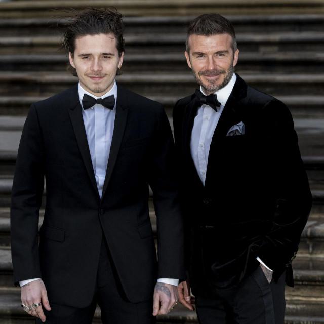 Brooklyn i David Beckham
