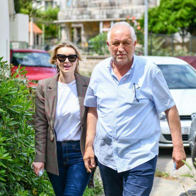 Pero Vićan sa kćerkom, Ivanom Vićan