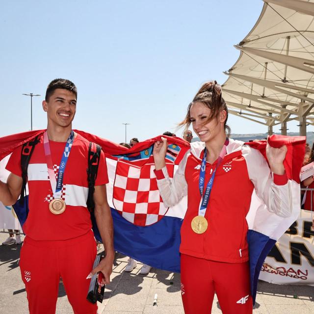Zlatni olimpijci Toni Kanaet i Matea Jelić