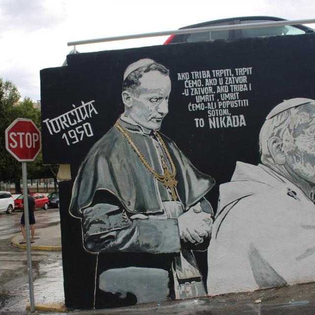 Citirana poruka na Torcidinu muralu
