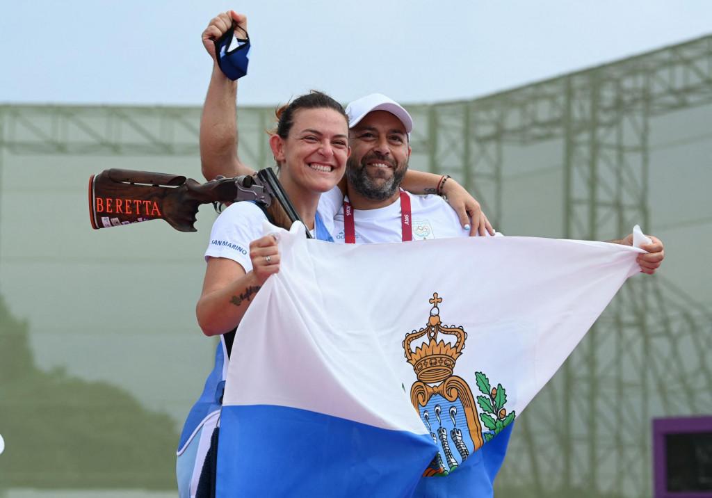 Alessandra Perilli osvojila je broncu u trapu i tako donijela San Marinu prvu olimpijsku medalju u povijesti, kasnije je bila srebrna u paru s Gianom Marcom Bertijem