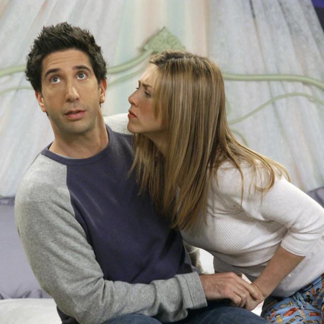 Jennifer Aniston i David Schwimmer u desetoj sezoni serije 'Prijatelji'