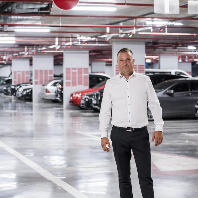 Sibenik, 080720.<br /> Reportaza o novo napravljenoj podzemnoj garazi Poljani.<br /> Na fotografiji: Goran Bulat direktor Gradskog parkinga.<br />