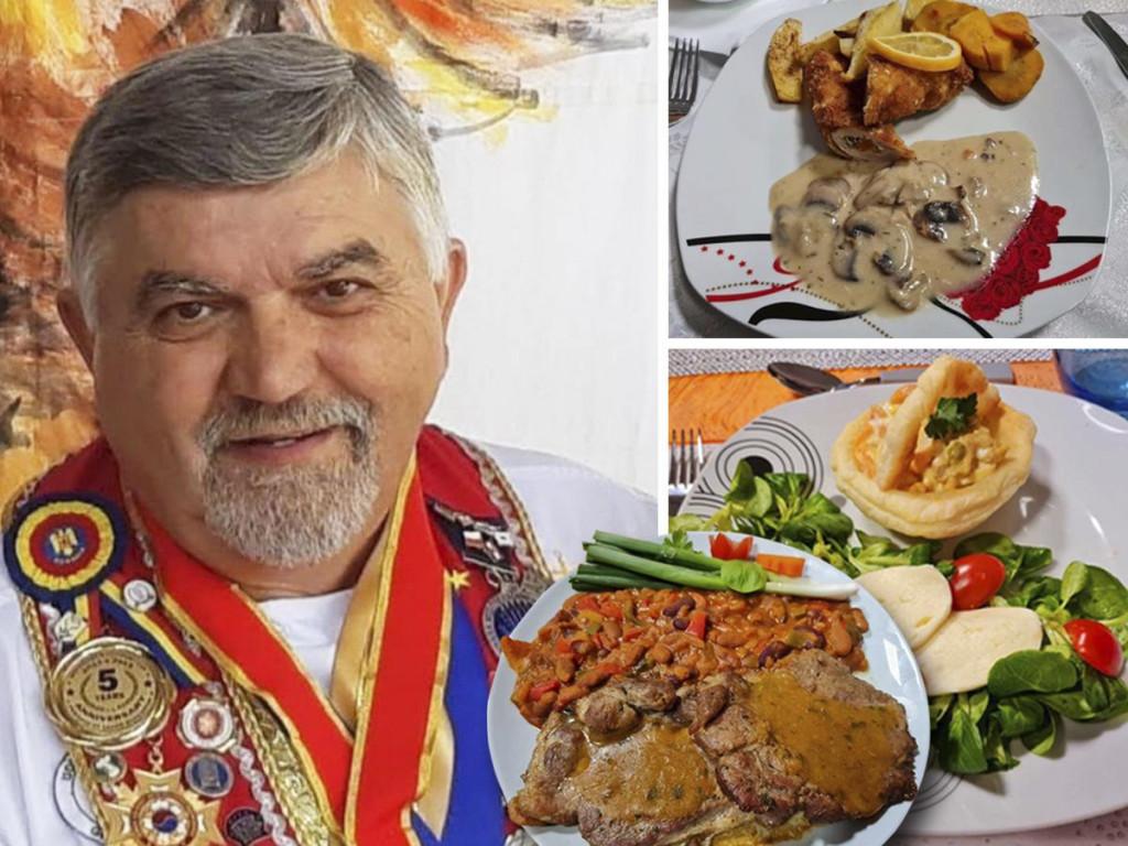 Božidar Miodragović s osvojenim medaljama i jela njegovih protukandidata u Večeri za 5