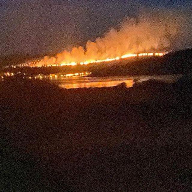 Požar na području Žaborića i Jadrtovca