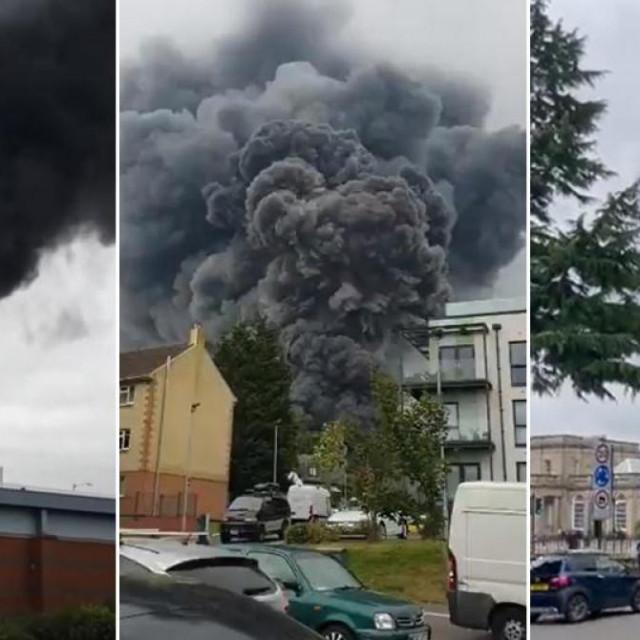 Tri fotografije eksplozija u Leamington Spa<br />