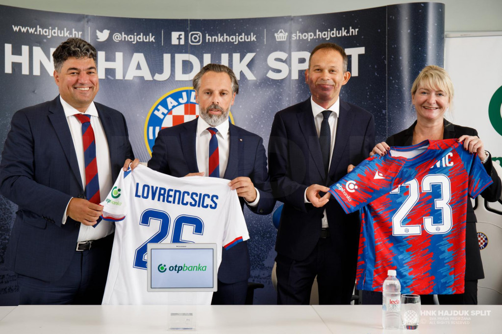 Lukša Jakobušić i Ivan Matana sa strane Hajduka, te Zvonimir Akrap i Silvija Bareša iz OTP banke
