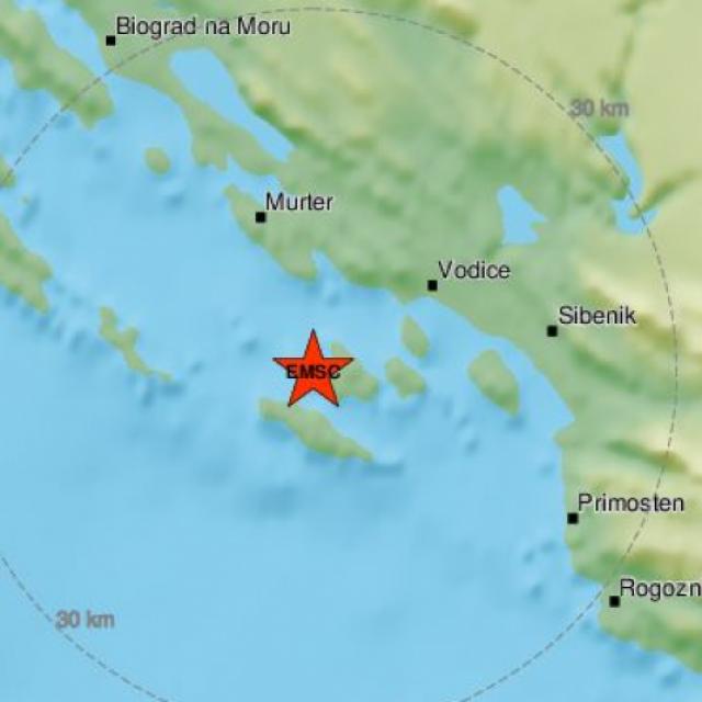 Potres na šibenskom području, epicentar je bio u Jadranskom moru