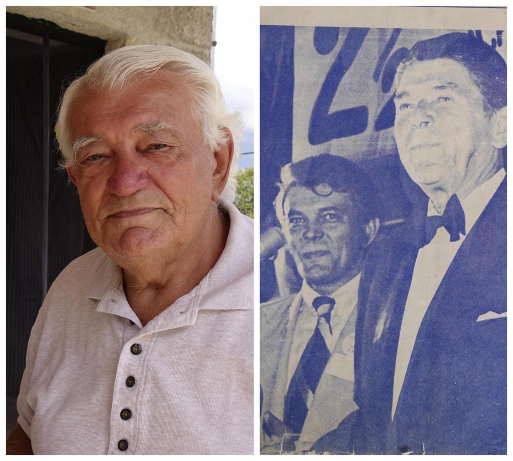 Josip Kuštra i Ronald Reagan