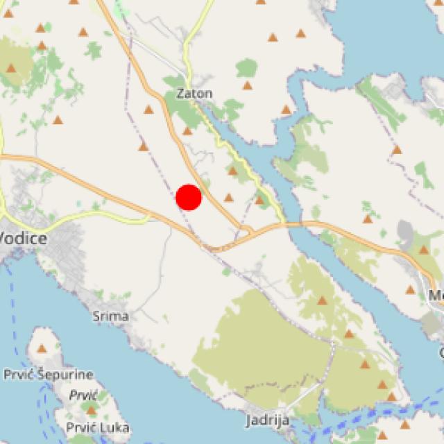 U subotu poslijepodne zabilježen je slab potres između Vodica i Zatona
