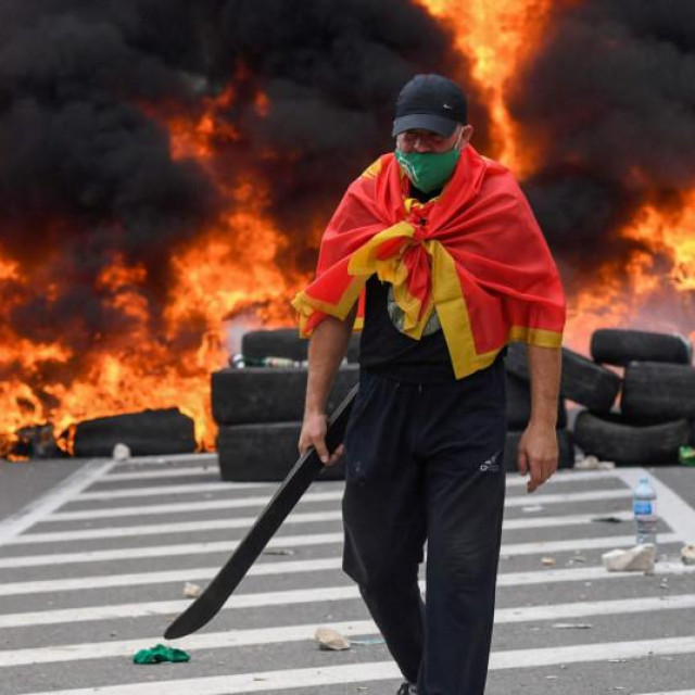 Prosvjednici u Crnoj Gori