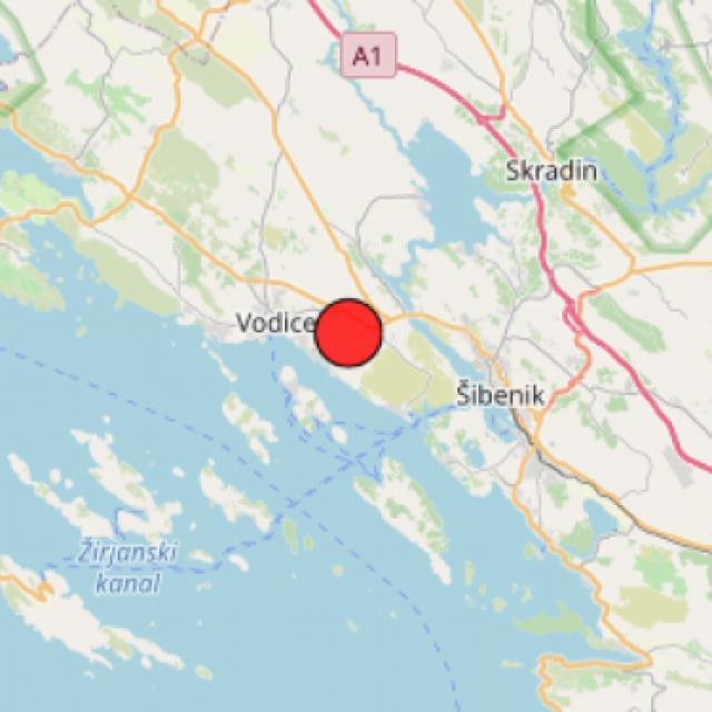 Još jedan potres na vodičkom području