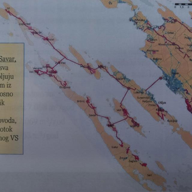 Mreža vodovodizacije zadarskih otoka