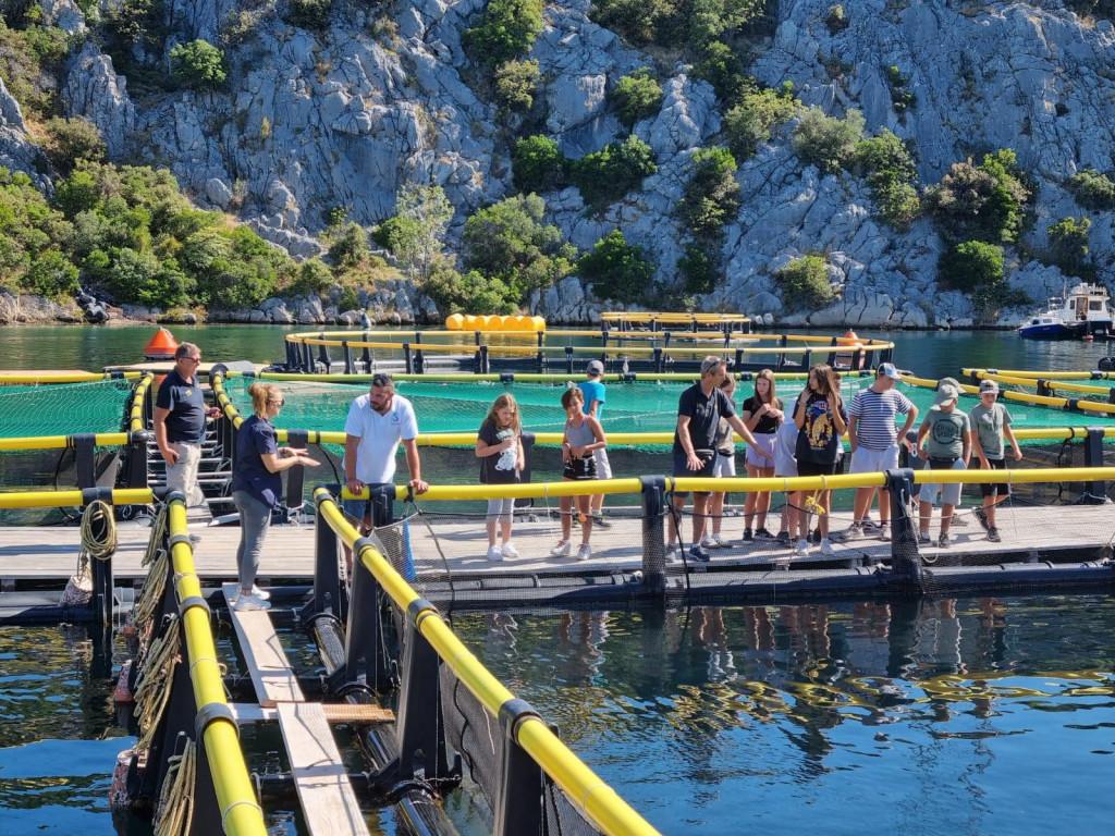 Polaznici Mornarske akademije na licu mjesta doznali su kako se uzgajaju ribe i školjke