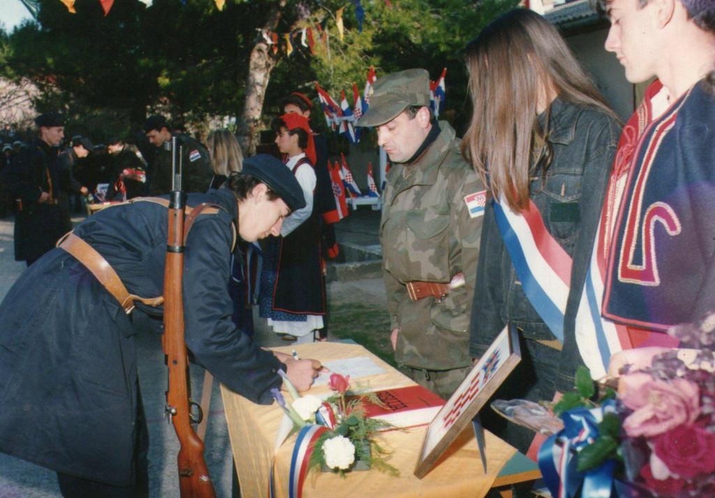 Prisega ročnika 1991. godine