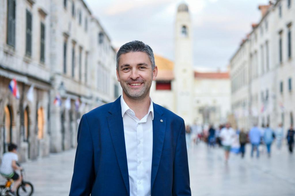 Dubrovnik, 30.05.2021.<br /> Izjave novog starog gradonacelnika Mata Frankovica na stradunu.<br />