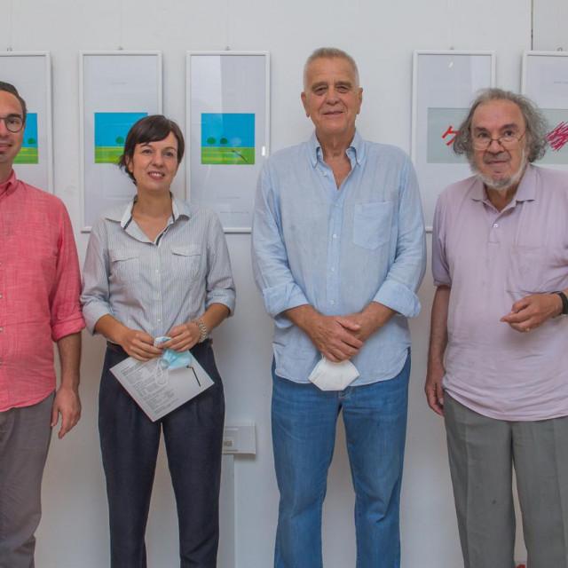 Slijeva: Ivan Viđen, Katarina Palinić, Mihovil Rismondo i akademik Luko Paljetak