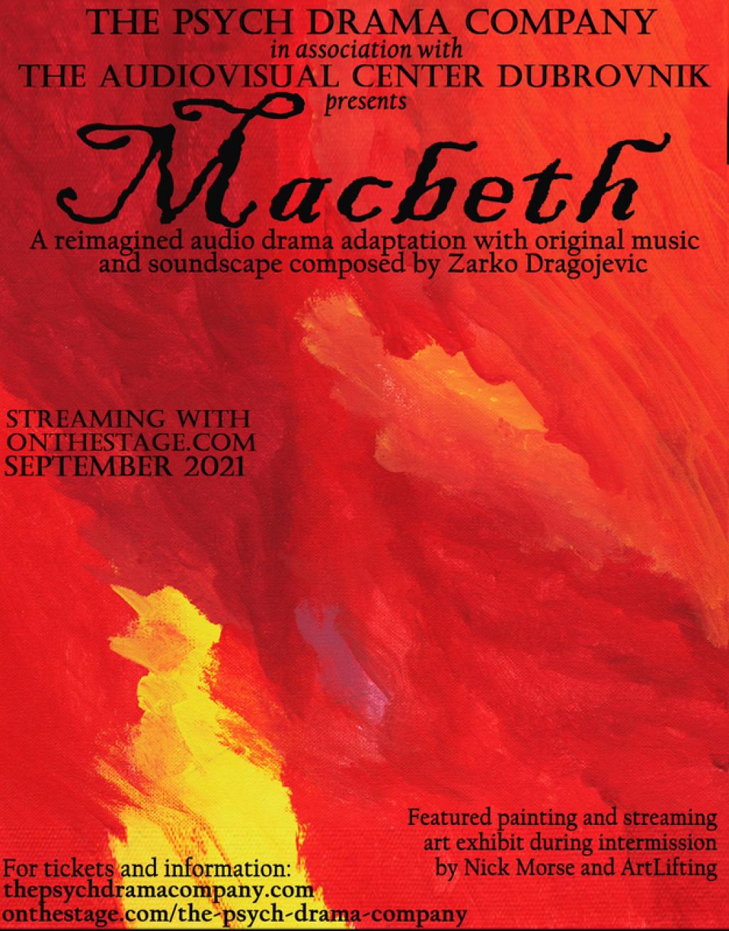 """Plakat za radio-dramu """"Macbeth"""""""