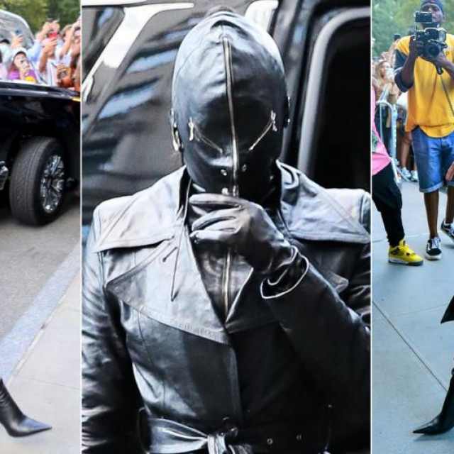 Kim Kardashian snimljena je ispred hotela Ritz-Carlton u njujorškom Central Parku odjevena u kožu od glave do pete