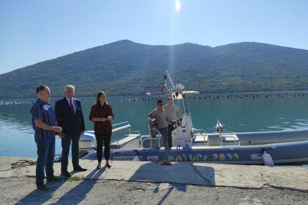 Javnoj ustanovi za upravljanje zaštićenim dijelovima prirode DNŽ uručeno novo plovilo za nadzor eko mreže Natura 2000