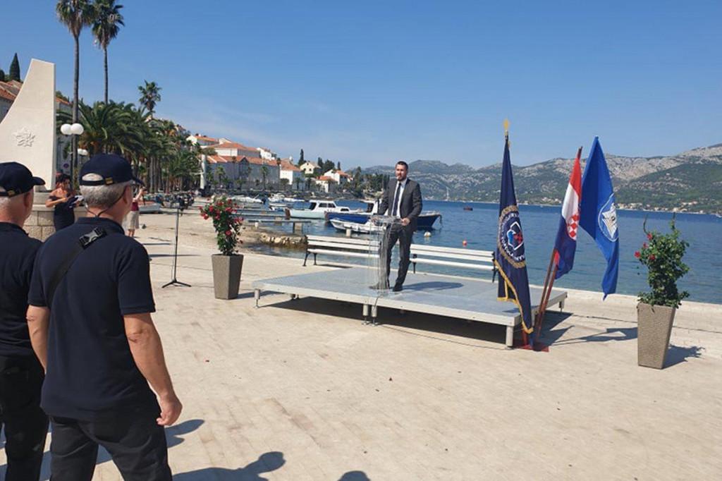 Joško Cebalo na obilježavanju 30. obljetnice osnutka ratnih postrojbi otoka Korčule