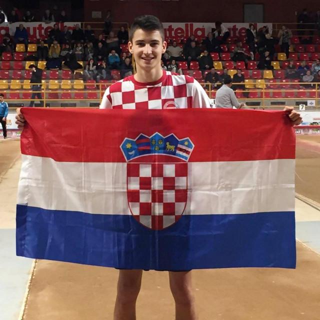 Luka Gašpar, 21-godišnji Pločanin, član zagrebačkog Zrinjevca