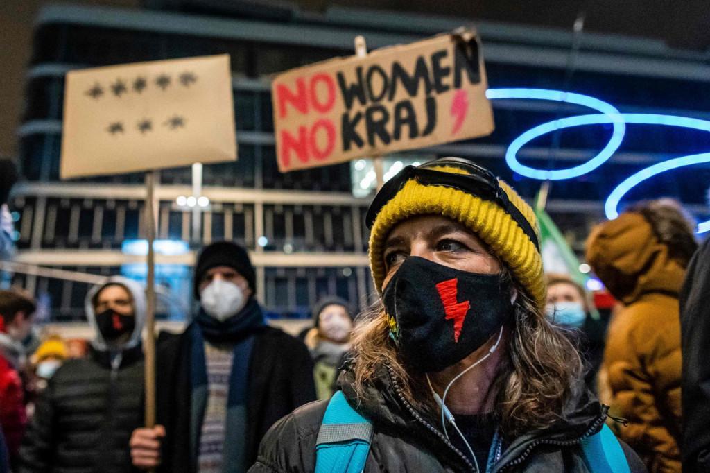 Prizor s prosvjeda koji je u Varšavi održan koncem siječnja zbog zakona o zabrani pobačaja