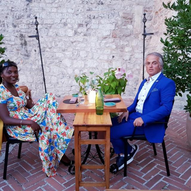 Robert Treselj sa suprugom Alvine