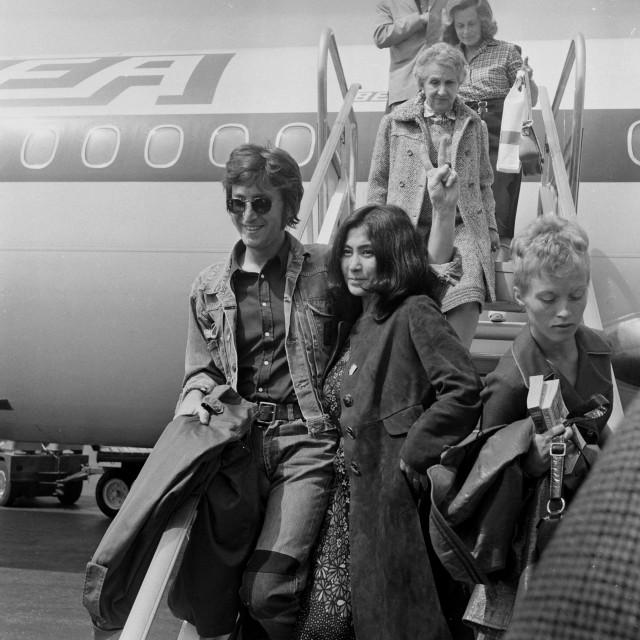 John Lennon i Yoko Ono snimljeni 1971.