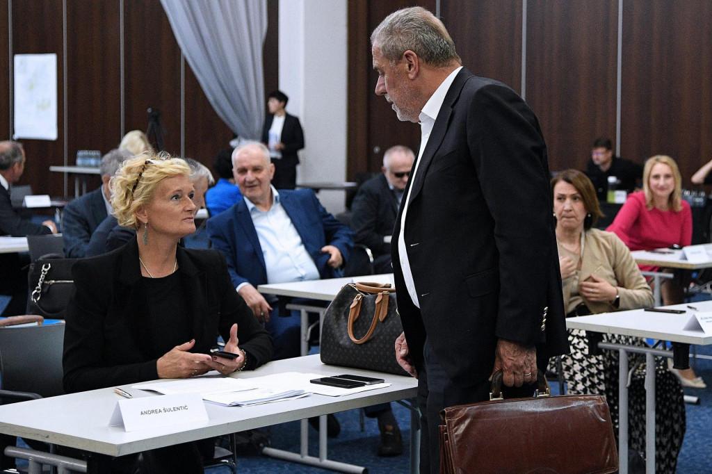 Antdrea Šulentić i Milan Bandić