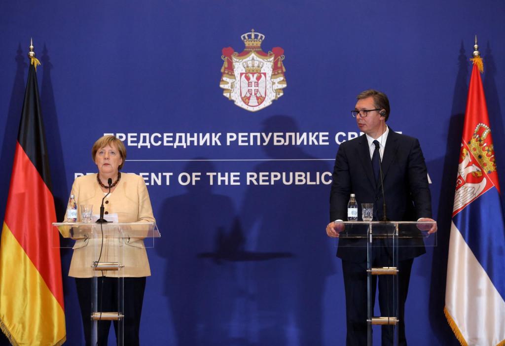 Susret 'prijatelja' Angele Merkel i Aleksandra Vučića