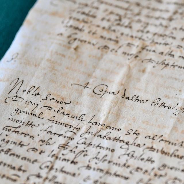 Prijepisi pisama dvojice sudionika slavne Magellanove posade koji se čuvaju u dubrovačkom arhivu/ Tonči Plazibat/CROPIX