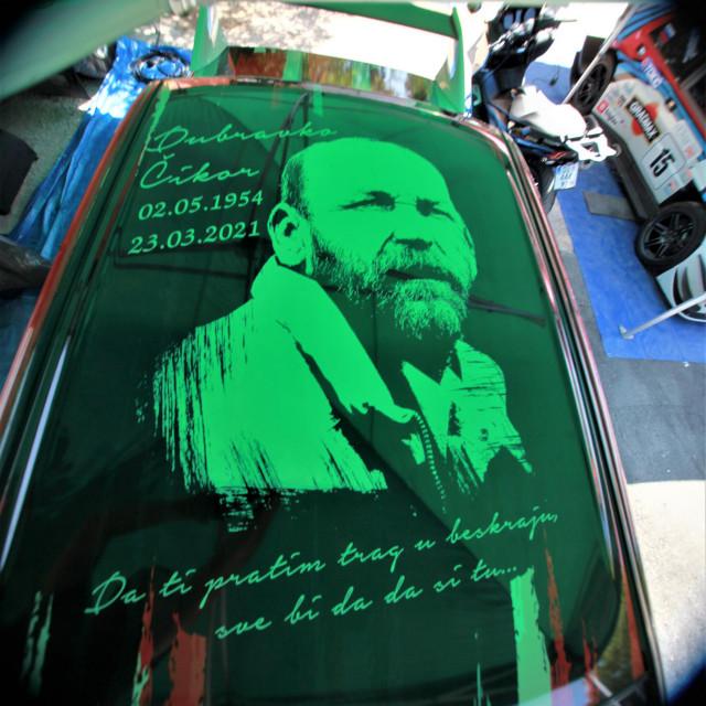U spomen na Dubravka Čikora oslikali su se i krovovi 'bolida' vozača Dubrovnik Racinga