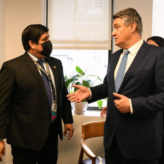 Predsjednik Milanović razgovara s predsjednikom Kostarike Carlosom Alvaradom Quesadom