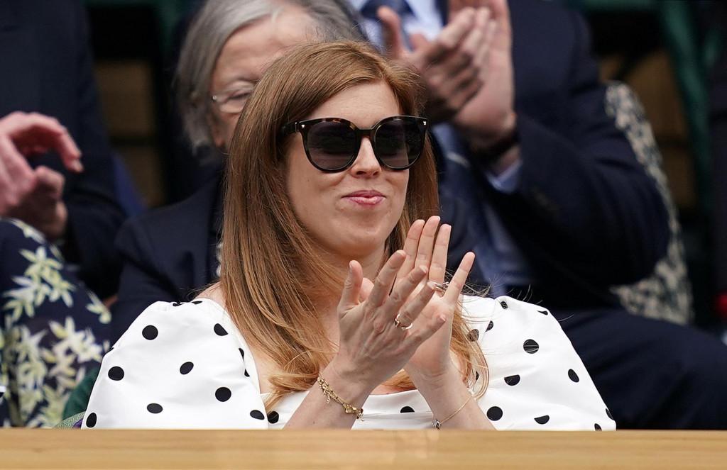 Princeza Beatrice u srpnju ove godine na teniskom turniru u Wimbledonu