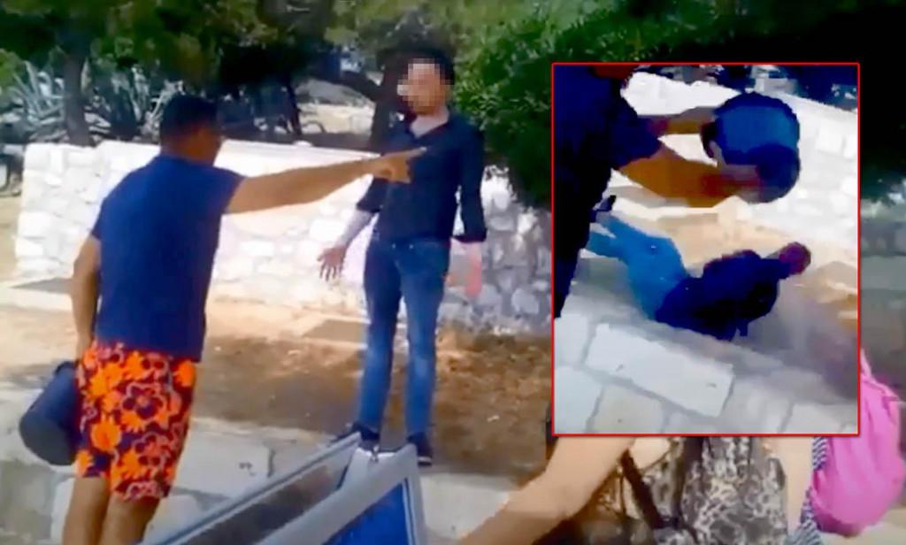 Turist na Hvaru doživio je neugodno iskustvo kad ga je lokalac zalio kantom vode.