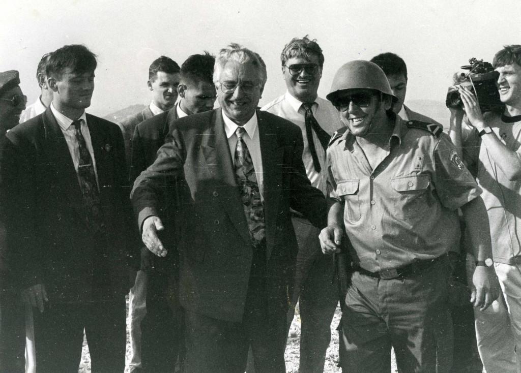 Predsjednik Tuđman došao je odati počast žirjanskim ratnicima