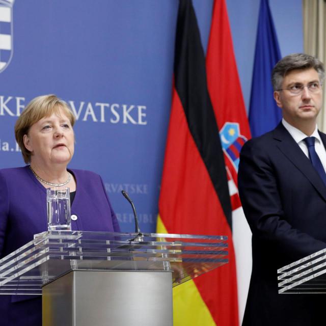 Kancelarka Merkel s premijerom Plenkovićem u studenom 2019.