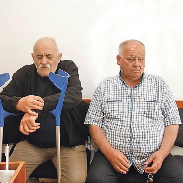 Bandićev šogor Mile Macan (lijevo) i Ivan Tomić na Općinskom sudu (arhiva)